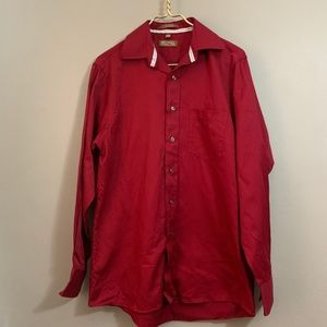 Michael Kors red 15 1/2 34/35 button down